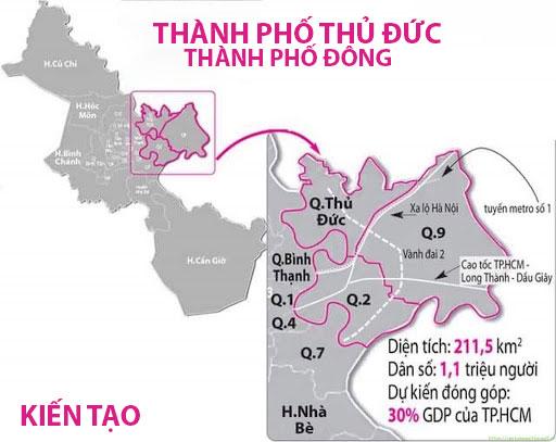 Bản đồ địa giớ hành chính thành phố thủ đức